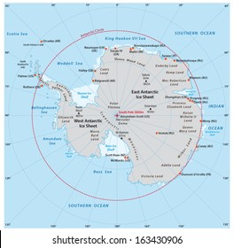 antarctic map