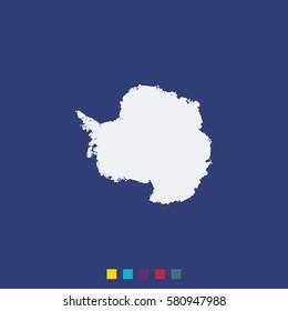 Antarctica high detailed map.