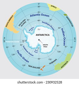 Antarctica map. Vector EPS 10