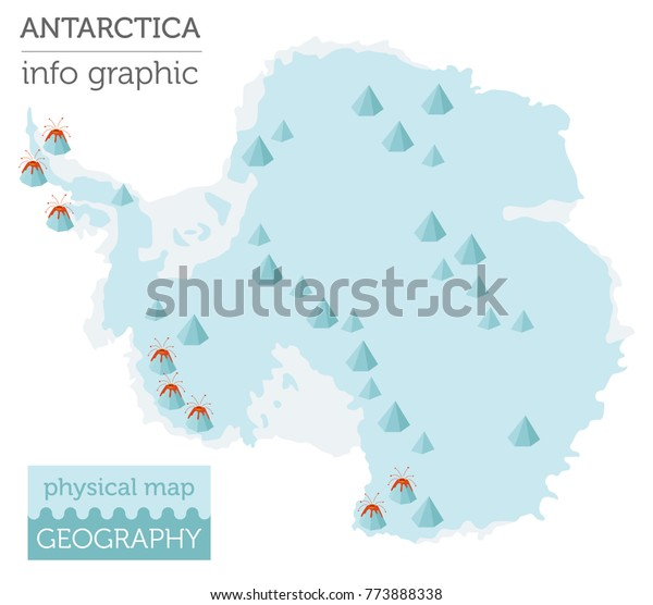 Antarctica Physical Map Elements Build Your Stock Vector ...