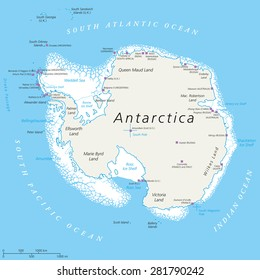 Antarctica Map Images, Stock Photos & Vectors | Shutterstock