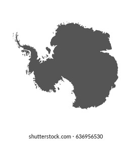 Antarctica vector map. Black icon on white background.