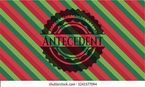 Antecedent christmas emblem background.