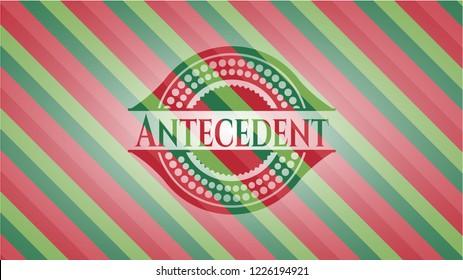 Antecedent christmas style emblem.