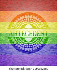 Antecedent lgbt colors emblem