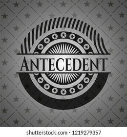 Antecedent retro style black emblem