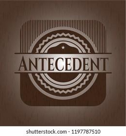 Antecedent wood emblem