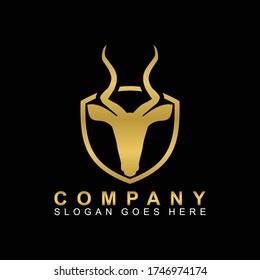 Antelope Animal Logo Vector Design Template