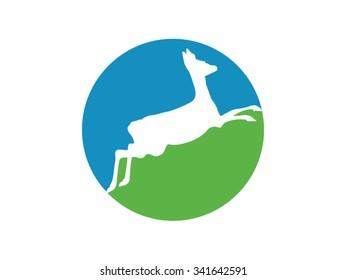 Antelope, gazelle logo