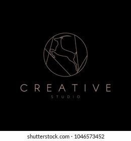 Antelope Logo. Luxury antelope logotype
