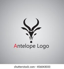 antelope  logo on background