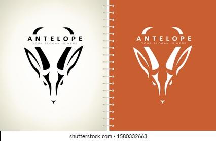antelope logo vector. animal design.