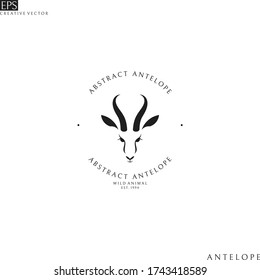 Antelope springbok. Logo template. Wild animal
