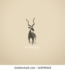 Antelope - vector illustration
