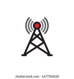 Antena Icon In Trendy  Design Vector Eps 10