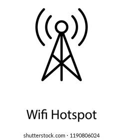 A antenna for capturing signals, wifi hotspot