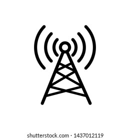 Antenna icon broadcasting design templated