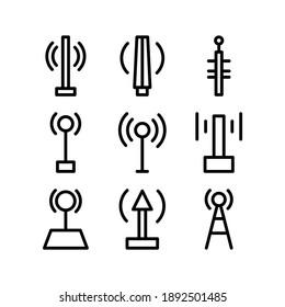 Icône d'antenne ou logo, symbole de signe isolé, illustration vectorielle - Collection d'icônes vectorielles de haute qualité de style noir