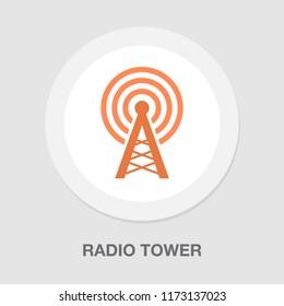 antenna icon -radio tower - wireless communication