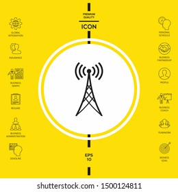 Antenna icon symbol. Graphic elements for your design