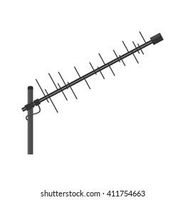 Antenna icon. Television antenna. TV antenna. Aerial icon. Antenna icon set. Antenna vector isolated on a white background.