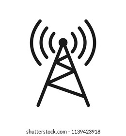 antenna icon. antenna tower, broadcast flat style symbol. cellular, transmission, wave,  telecommunication symbol sign icon for web and mobile app