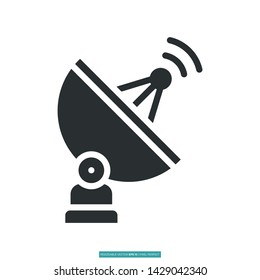Antenna Icon Vector Illustration Logo Template