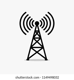 Antenna, Radio tower sign, icon, label. Vector illustration