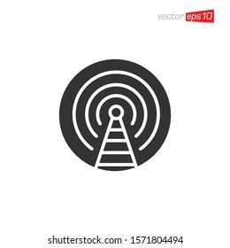 Antenna Signal Icon Design Vector