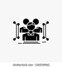 Anthropometry, body, data, human, public Glyph Icon. Vector isolated illustration