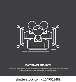 Anthropometry, body, data, human, public Icon. Line vector symbol for UI and UX, website or mobile application