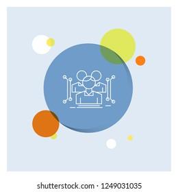 Anthropometry, body, data, human, public White Line Icon colorful Circle Background