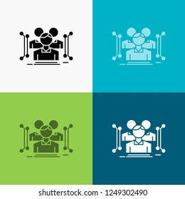 Anthropometry, body, data, human, public Icon Over Various Background. glyph style design, designed for web and app. Eps 10 vector illustration