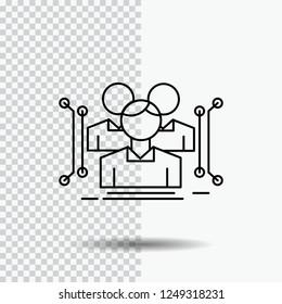 Anthropometry, body, data, human, public Line Icon on Transparent Background. Black Icon Vector Illustration