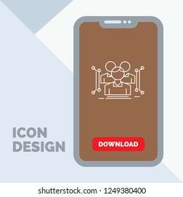 Anthropometry, body, data, human, public Line Icon in Mobile for Download Page