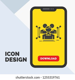 Anthropometry, body, data, human, public Glyph Icon in Mobile for Download Page. Yellow Background