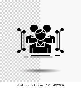 Anthropometry, body, data, human, public Glyph Icon on Transparent Background. Black Icon