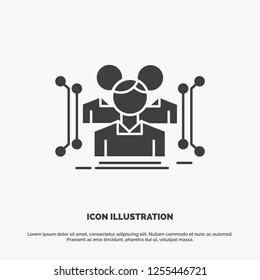 Anthropometry, body, data, human, public Icon. glyph vector gray symbol for UI and UX, website or mobile application