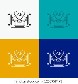 Anthropometry, body, data, human, public Icon Over Various Background. Line style design, designed for web and app. Eps 10 vector illustration
