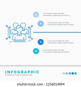 Anthropometry, body, data, human, public Infographics Template for Website and Presentation. Line Blue icon infographic style vector illustration