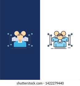 Anthropometry, body, data, human, public Flat Color Icon Vector