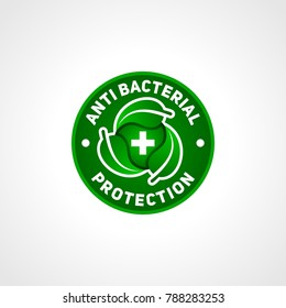 Anti bacterial protection symbol, for your healthy product.