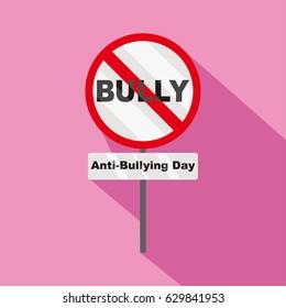 anti bullying day vector illustration
