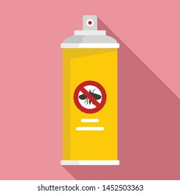 Anti insects spray icon. Flat illustration of anti insects spray vector icon for web design