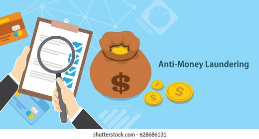 anti money laundering AML cash coin credit transaction company