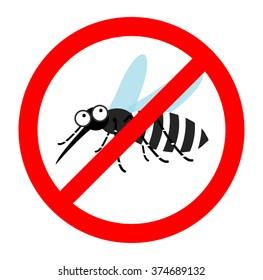Anti mosquito sign, Mosquito repellent vector, mosquito warning sign, stop mosquito sign , no mosquito. Vector illustration.