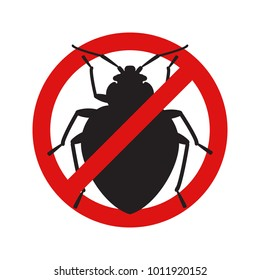 Anti no bedbug insect symbol illustration