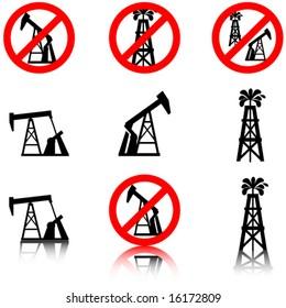 Anti oil drilling graphics.