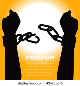 Anti Slavery campaign. Freedom day. Juneteenth poster campaign.