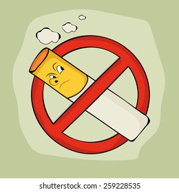 Anti smoking sign and symbol on stylish background for No Smoking Day.